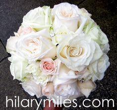 Blush Rose Bouquet with jewel detail www.hilarymiles.com