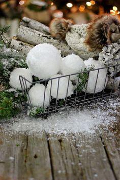 DIY Snowballs - Magnolia Homes style