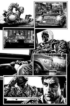 Bruises and Black Eyes Rorschach page by Lee Bermejo