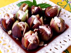 Figs With Goat Cheese And Port Syrup Recipe - Food.com