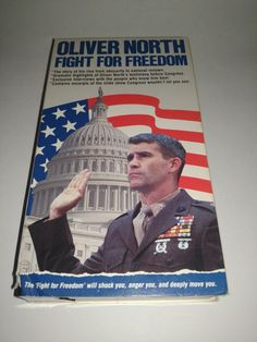 Oliver North Fight For Freedom VHS 1987 VCR Video Tape