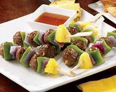Teriyaki Meatball Skewers-vegan meatballs