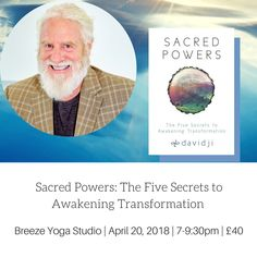 Join Davidji for this inspirational keynote speech based on his newly released book – Sacred Powers: The Five Secrets to Awakening Transformation.  Davidji will share his vast knowledge of meditation and other spiritual practices, together with practical experiences of meditation.