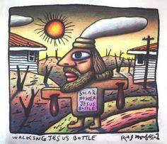 australian jesus Surf Design, Mombasa, Shirt Ideas, Tee Shirt, Spiderman, Stencils, Witch, Treats, Artists