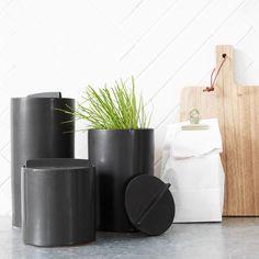 Pot Kitchen - zwart - 12,5x20 cm - waterdicht - House Doctor