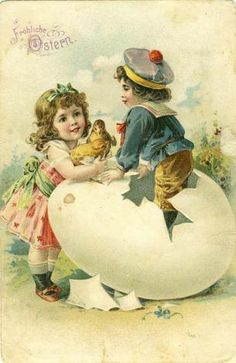 Easter Postcards from 1898 till today - The world's most famous Exhibition of Easter Postcards Vintage Halloween Cards, Vintage Holiday, Easter Art, Easter Crafts, Vintage Greeting Cards, Vintage Postcards, Easter Pictures, Easter Printables, Vintage Easter