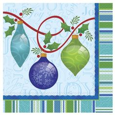 Lovely Ornaments Christmas Luncheon Napkins 20ct -- Continue to the product at the image link. (This is an affiliate link)