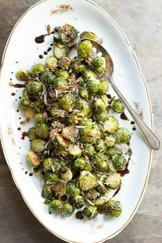 Roasted Brussels Sprouts with a Balsamic Glaze | Foodness Gracious