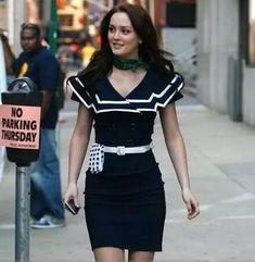 Gossip Girl Fashion Navy Short Sleeved Button Dress