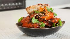 Steamed mud crabs with ginger, chilli and shallot sauce | Crab recipes | Peter Kuruvita via SBS Food