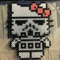 Stormtrooper Hello Kitty perler beads by phoenixgirlcreations