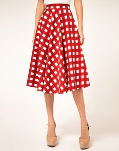 ASOS Check Full Midi Skirt | 66.28
