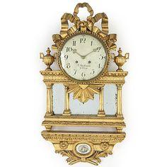 A Swedish late gustavian wall clock by F Beckman (Göteborg - Bukowskis Decor, Gustavian, Clock, Wall, Wall Clock