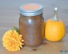Learn how to make Pumpkin Butter in your Crock Pot! It has the perfect blend of fall spices! From The Love Nerds {http://blog.thelovenerds.c...