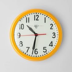 Inspired by the scale and durability of industrial wall clocks. Hand-assembled in our Portland factory, the Schoolhouse Electric Clock is constructed with a spu Home Clock, Electric Clock, S Brick, Schoolhouse Electric, Kitchen Clocks, American Manufacturing, Easy Wall, Kitchen On A Budget, Kitchen Reno
