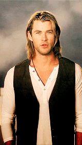 Chris Hemsworth (is fire).