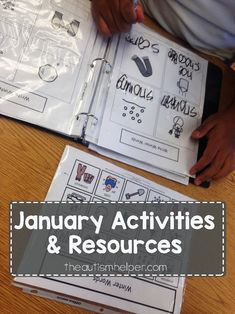 January Resources are here! Find winter adapted books, writing activities & more on the blog!! From theautismhelper.com
