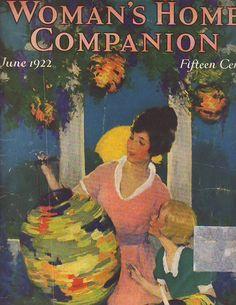 1922 Woman's Home Companion June-Edna Ferber; Brazilian Roof Gardens;Bill Hart
