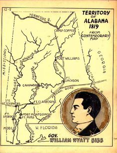 March 3, 1817: The Alabama Territory is created when Congress passes the enabling act allowing the division of the Mississippi Territory and the admission of Mississippi into the union as a state. Alabama would remain a territory for over two years before becoming the 22nd state in December 1819.
