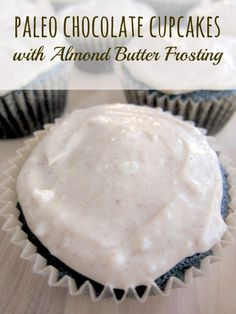Paleo Chocolate Cupcakes with Almond Butter Frosting