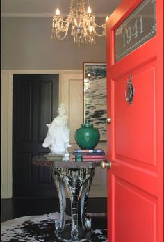 This door.  Love  I'm sure it is vintage and would cost rediculous money to replicate.  Of course