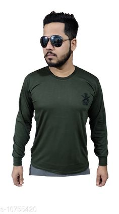 Tshirts Indian Army Camaouflage Stylish T-shirt for men (Full) Fabric: Cotton Sleeve Length: Long Sleeves Pattern: Solid Multipack: 1 Sizes: XL (Chest Size: 21 in Length Size: 28 in)  L (Chest Size: 20 in Length Size: 27.5 in)  M (Chest Size: 18 in Length Size: 26 in)  XXL (Chest Size: 22 in Length Size: 29.5 in)  Country of Origin: India Sizes Available: M, L, XL, XXL   Catalog Rating: ★4.4 (437)  Catalog Name: Trendy Partywear Men Tshirts CatalogID_1978418 C70-SC1205 Code: 243-10755420-