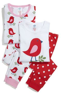 Mini Boden 2-Piece Fitted Pajamas (2-Pack) (Little Girls & Big Girls)