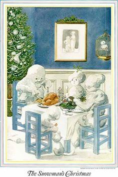 "Found on Pinterest, although we have this in our collection for ""The History of the Snowman"" book. Ladie's Home Journal, ""The Snowman's Christmas"" - 1924 - Oliver Herford"