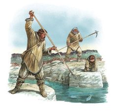 Spearing fish was a technique requiring high skill, but choosing a spot carefully, for example, at a narrow point where the river funnels a fish into a small area, would improve chances of success.