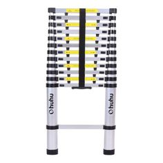 Ohuhu 12 ft Aluminum Telescopic Extension Ladder, Certified Extendable Telescoping Ladder with Spring Loaded Locking Mechanism Non-slip Ribbing 330 Pound Capacity Aluminium Ladder, Aluminium Alloy, Garage Storage, Storage Spaces, Multi Purpose Ladder, Best Ladder, Book Racks