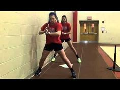 Wall Drill to emphasize back leg/knee/hip drive Softball Pitching Drills, Baseball Hitting Drills, Softball Workouts, Fastpitch Softball, Band Workouts, Softball Coach, Softball Players, Girls Softball, Softball Cheers