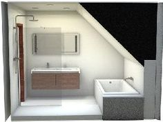 1000 images about salle de bains on pinterest attic for Amenagement salle de bain sous comble