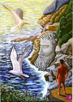 Il sonno degli dei, acrilico su mdf, 68x48 cm Bird, Animals, Atelier, Animales, Animaux, Birds, Animal, Animais