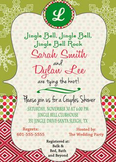 Christmas Bridal Shower Invitation Christmas Wedding by DaxyLuu, $15.00