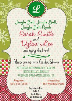 Christmas Bridal Shower Invitation Christmas Wedding by DaxyLuu, $15.00