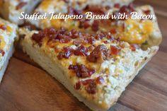 Stuffed Jalapeno Bread with Bacon @createdbydiane