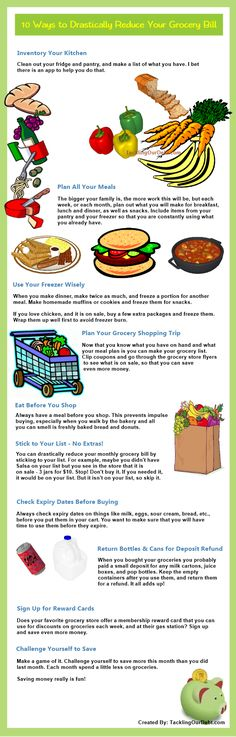 Ways to drastically reduce your grocery bill
