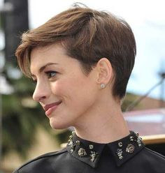 Attractive Pixie Cut with Nice Side-swept Bangs