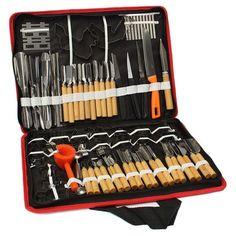 Prime Kitchen (Set Of 80pcs) Professional Vegetable Fruit Carving Tools Kit Set.