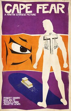 Cape Fear (1991) ~ Minimal Movie Poster by Ben Whitesell #amusementphile