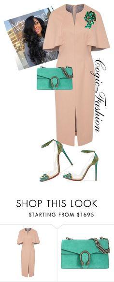 I❤Aim  My Convention!! by cogic-fashion on Polyvore featuring moda, Lela Rose, Gucci, cogicfashion and iloveaim