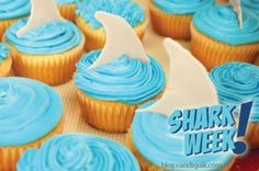 Shark Fin Cupcake Toppers