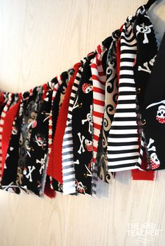 Hey, I found this really awesome Etsy listing at https://www.etsy.com/listing/252332687/pirate-party-pirate-fabric-tie-garland