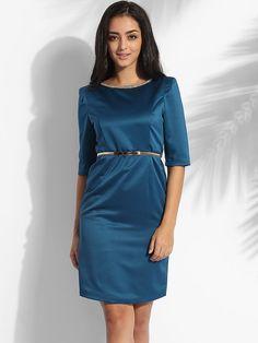 Beading Round Neck Dacron Plain Bodycon-dress #BodyconDresses, #Dresses, #Fashion, #Womens