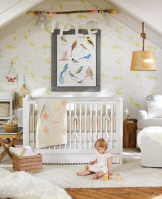 Jenni Kayne Linen Embroidered Nursery Bedding Set | POPSUGAR Moms