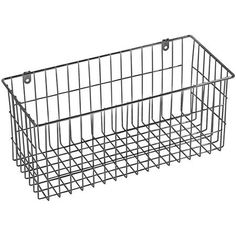 More Inside Large Wire Basket $11.98 - mount on office wall - use for accessories.
