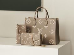 Louis Vuitton's Monogram Empreinte Collection is now Bicolor Lv Handbags, Louis Vuitton Handbags, Grey Leather, Cowhide Leather, Louis Vuitton Monogram, Obese Women, S Monogram, Popular Handbags, Tall Women