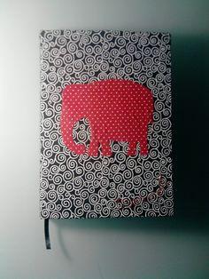 Caderno A6 - Enroladinho e bolinhas
