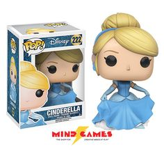 Your favourite Disney characters stylized in a cute vinyl figure are here from Funko! From Cinderella, the POP Disney Cinderella Vinyl Figure is ready to go to the fabulous ball! From rags to riches, she's dressed to impress with her stunning blue ball gown. What will Anastasia and Drizella think of her now? The POP Disney Cinderella Vinyl Figure measures at only 3 3/4 inches. Collect all Disney POP figures and be surrounded in your own little Disney world!