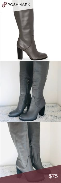 c4e64233f Sam Edelman Regina Knee High Gray Leather Boots Originally purchased from  Nordstroms for  200+.